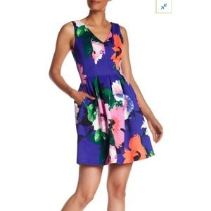 Vince Camuto Fit & Flare Floral Dress